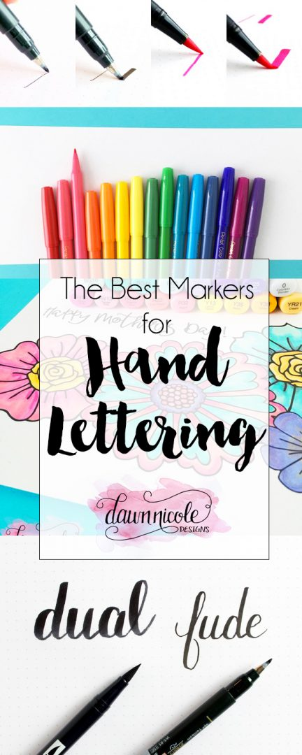 The Best Markers for Hand-Lettering | Dawn Nicole Designs™