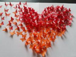3D-Bild mit Schmetterlingen im Ombré-Look selber machen