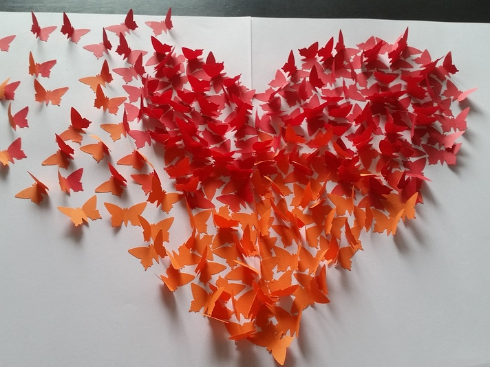 3D-Bild mit Schmetterlingen im Ombré-Look selber machen ...