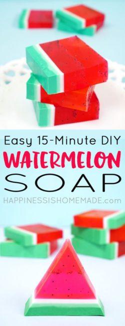 15 Minuten DIY Wassermelonen Seife
