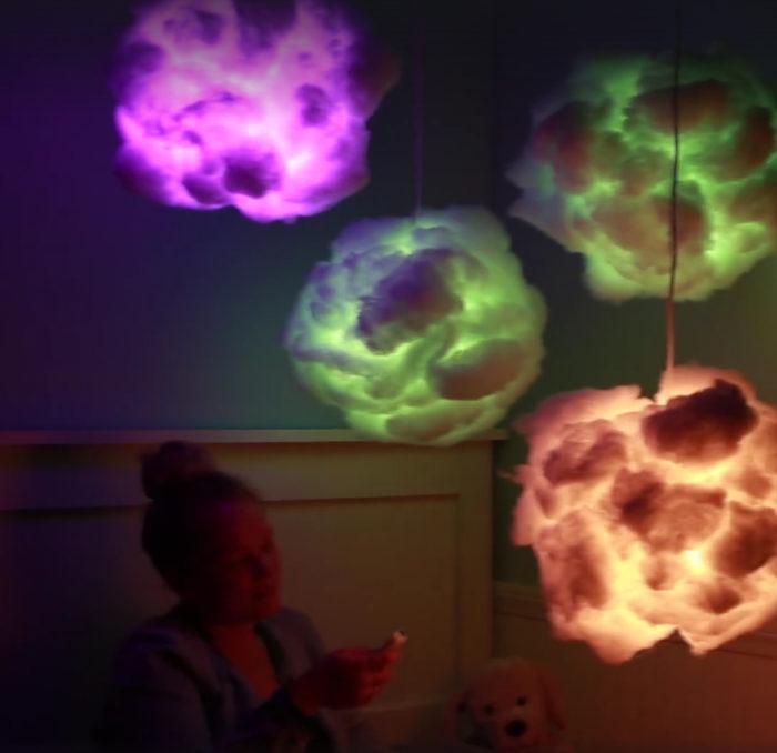 Stylische DIY Wolken Lampe